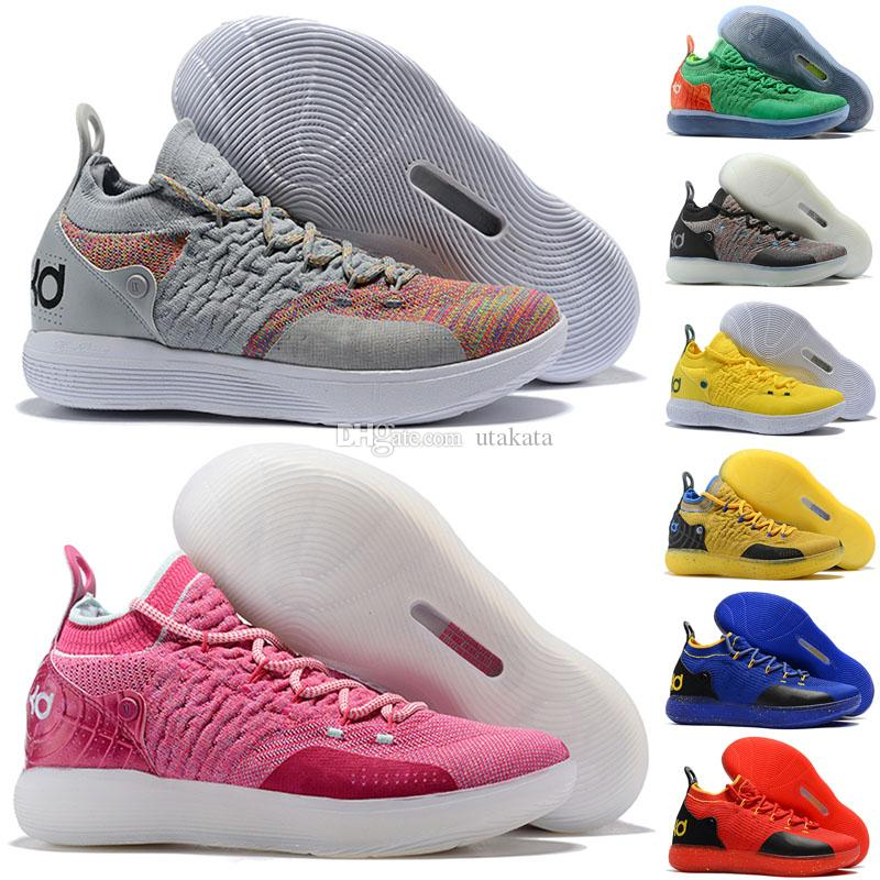 outlet store e51c9 6a4f2 2018 New Arrival KD XI 11 EP Oreo Ice Blue Sports Basketball Shoes For Top  Quality Mens Kevin Durant 11s Designer Shoes Barkley Shoes Shoes Jordans  From ...