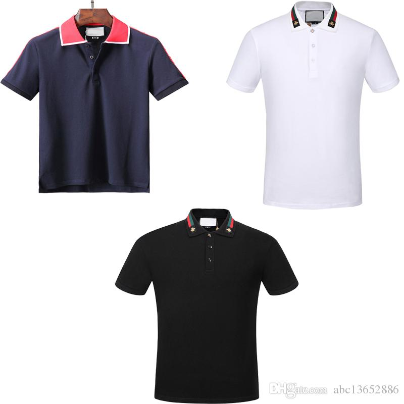 Wholesale new spring summer men s polo shirt casual polo shirts embroidered  polo T-shirt top size XXXL