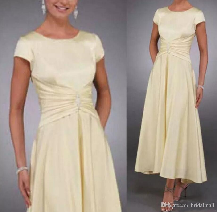 Plus Size 2019 Simple Tea Length Mother Of The Bride