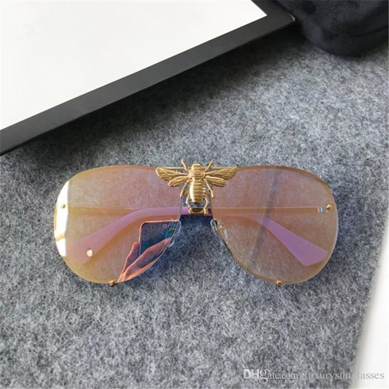 Luxury 2238 Sunglasses For Men Women Designer Popular Fashion Big Summer Style With The Bees Top Quality UV Protection Lens Come With Case