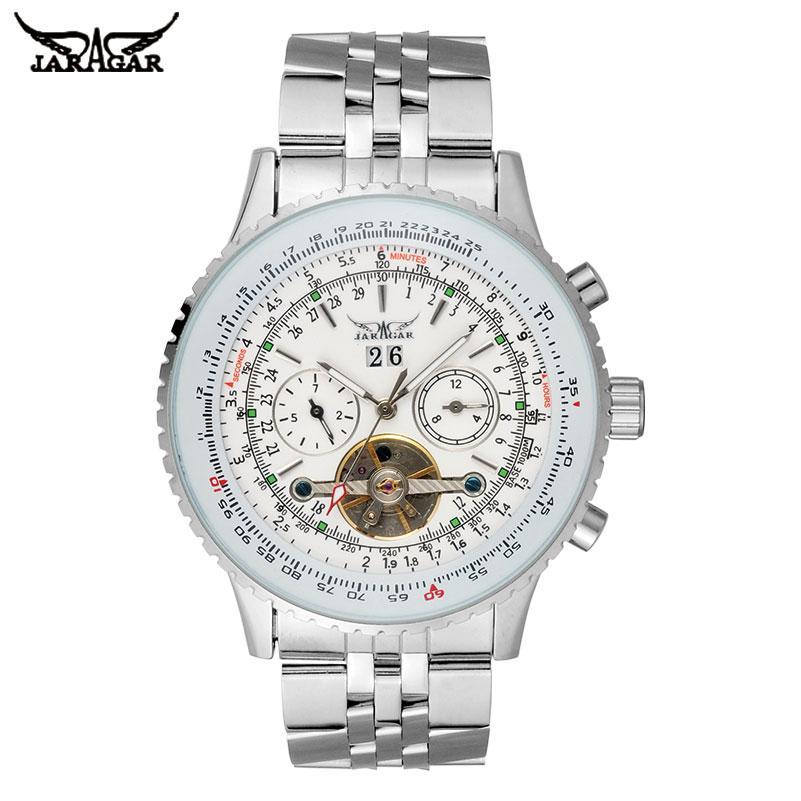 c50db05bfdaa Compre JARAGAR Relojes Para Hombres Reloj Automático Automático De Lujo Con  Auto Viento Reloj Resistente Al Agua Con Correa De Acero Inoxidable Reloj  ...
