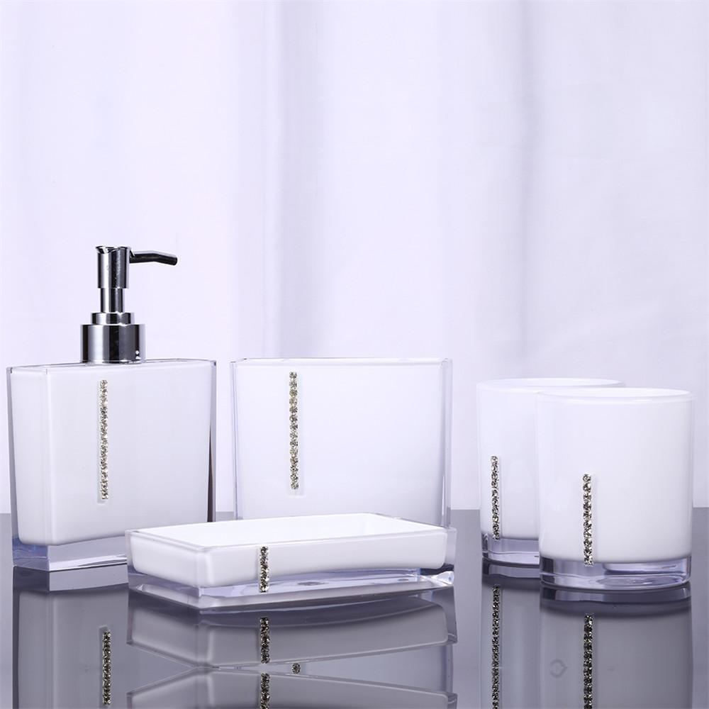 2019 Acrylic Bathroom Set Accessories Hand Soap Dish Dispenser Tumbler  Toothbrush Holder Bathroom Home Decorate From Aozhouqie, $62.16 | DHgate.Com