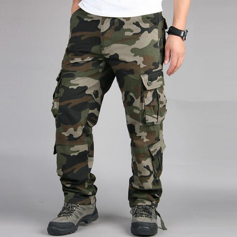 Acheter Camouflage Militaire Cargo Pantalon Homme Outwear Baggy Combat  Multi Poches Pantalon Décontracté Salopette Armée Tactique Pantalon Plus  Taille 42 De ... fd81ec3a5f4