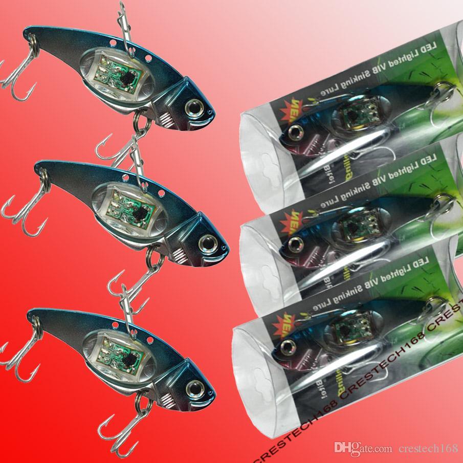 Titreşim batan balıkçılık lures LED balıkçılık lures Yeni Balıkçılık Lure Yemler / Crankbaits Kancalar Minnow Yemler Mücadele