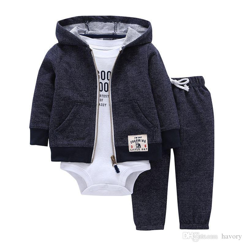 2017 Bebes Baby Boy Girls Clothes Set Bodys Bebes Cotton Hooded
