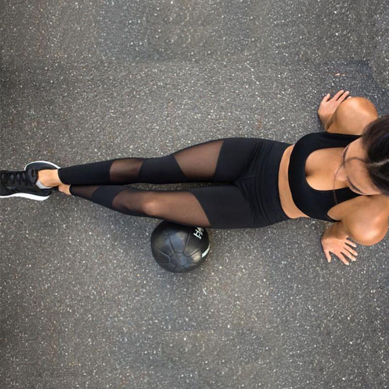 3b2fa3821198c 2019 Black Mesh Splice Fitness Leggings Female Clothing Harajuku Athleisure  Slim Push Up Leggings Women Elastic Black Sexy Jeggings From Waxeer, ...