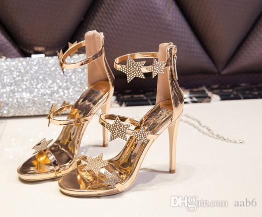 56c0116c4ce 2018 New Star High Heel Sandal Girl And a Sexy Simple Water Drill Sandals  with Waterproof Platform Toe. Sexy Fashion Beautiful Online with   35.93 Piece on ...