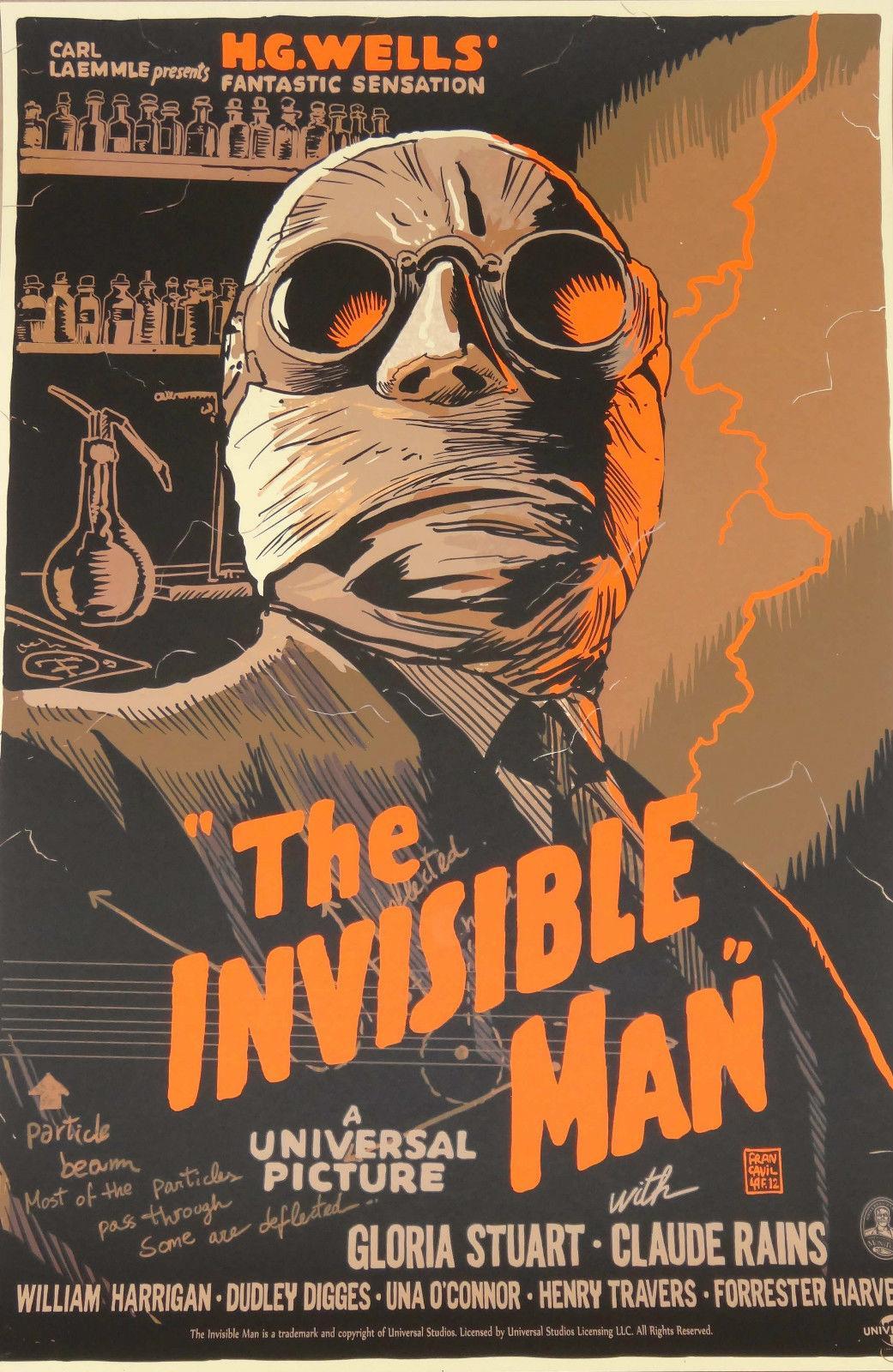 Acquista l uomo invisibile home decor art silk poster inch