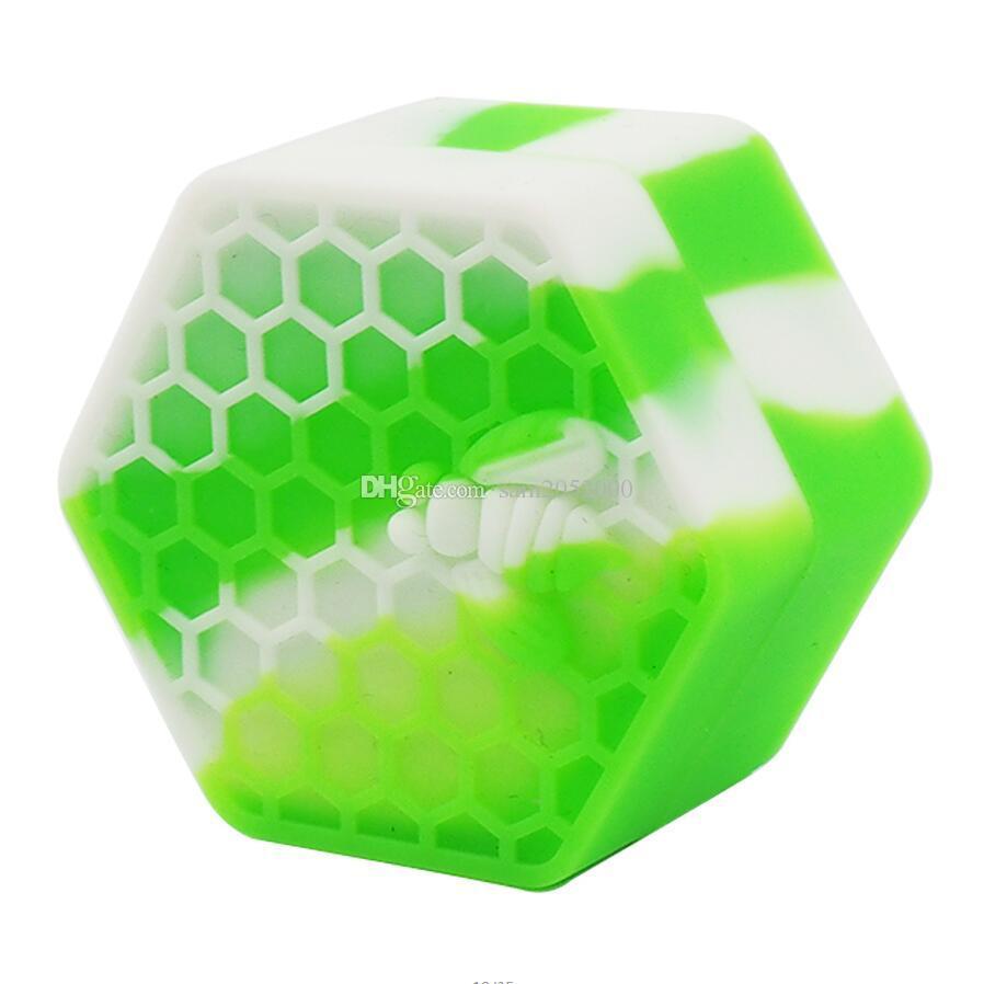 26mlの容器蜂のシリコーンの瓶の六角形のシリコーンの容器瓶のための石油のシリコーンの容器