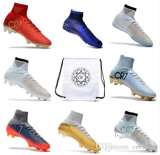 288a85a5e 2019 New 2018 CR7 Football Boots Size 35 45 Mercurial Superfly V AG FG  Soccer Shoes Mens Women Kids Outdoor Soccer Cleats Bag And Box From  Cr7shoes