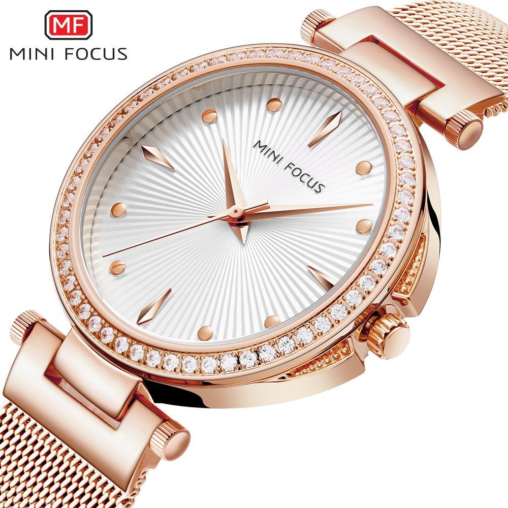 261d3d96218 Compre 2018 MINI FOCO INS Royal Mulheres Relógios Top Marca De Luxo Ultra  Fina Malha Strap Rose Relógio De Quartzo De Ouro De Cristal Decoração Dial  De ...