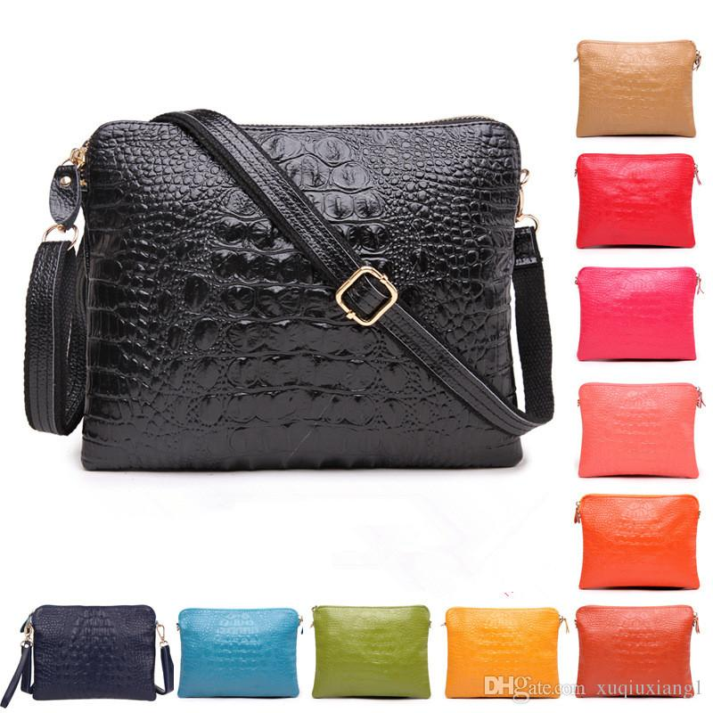 915a51579cf1 Vintage Crocodile Ladies Leather Bags Lux Split Cowhide Tablet ...