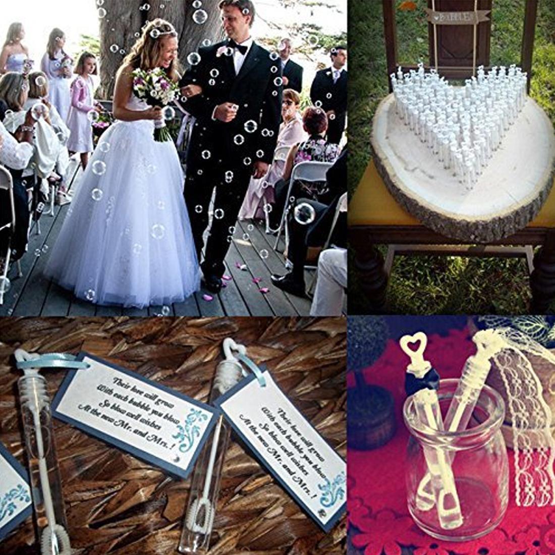 Güzel Kalp Şekli Kolu Kabarcık Şişesi Bebek Parti Iyilik Boş Kabarcık Sabun Şişeleri Düğün Doğum Günü Partisi Dekorasyon 12 Adet / grup