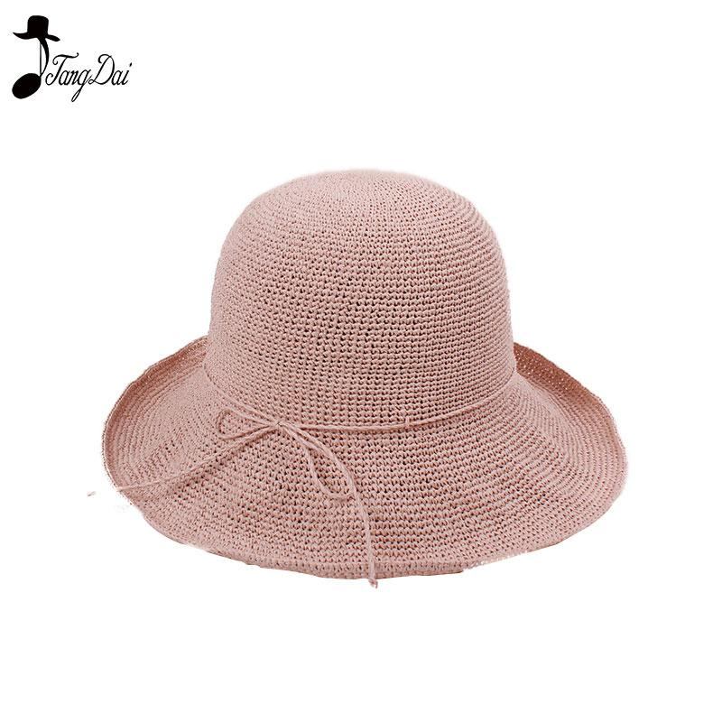 5420d8d5614 Raffia Straw Bucket Hat Women 2018 Summer Sun Hats For Ladies Packable Hats  Crochet Hat Fishing Hats Funny Hats From Green home