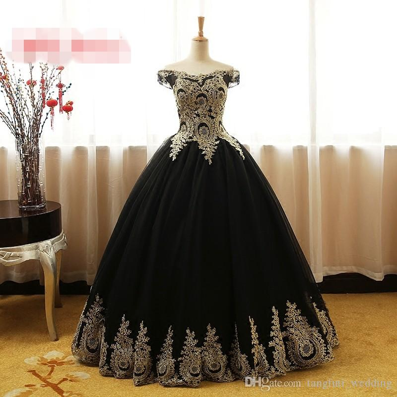 a4207cdf6cc Black Puffy Quinceanera Dresses Long 2018 Online Princess Ball Gown For Prom  Sweet Sixteen 16 Dresses Vestidos De 15 Anos Prom Party Quinceanera Themes  ...