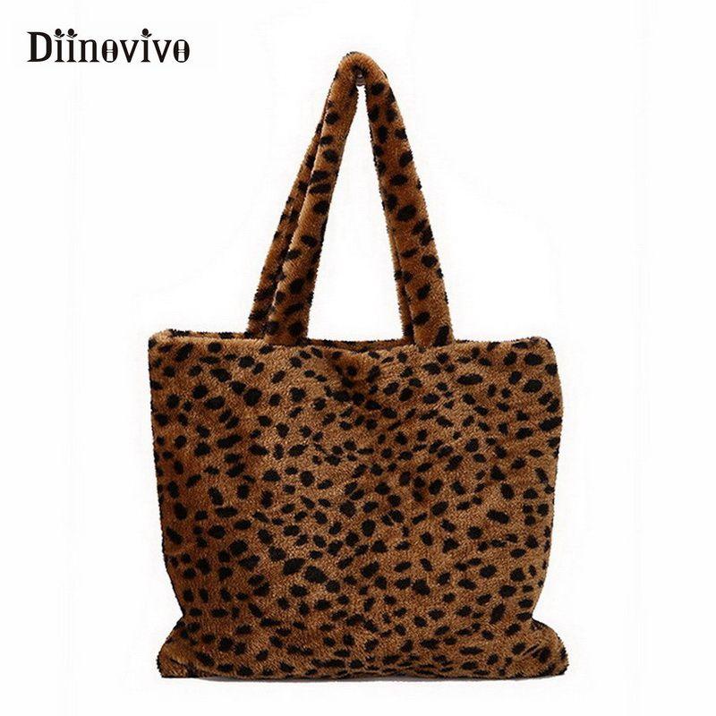 c9c1c2a6c137 DIINOVIVO Vintage Fashion Women Tote Bag Faux Fur High Quality ...