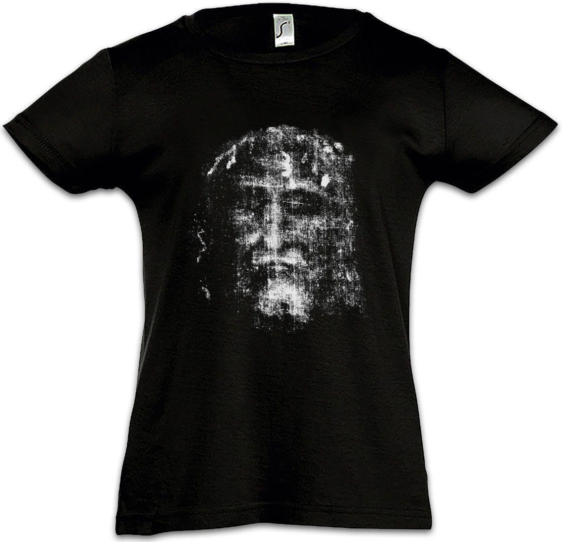 SHROUD OF TURIN Kids Girls T-Shirt Tuch Holy Jesus Christus Christ Maria  INRI