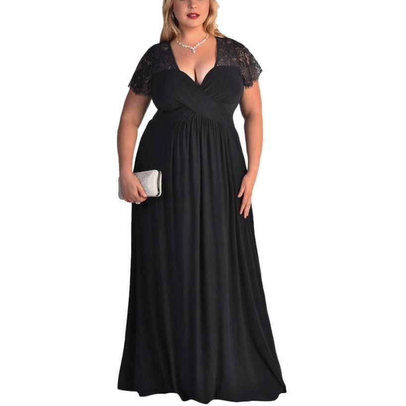 86956f8c52d Summer Dress Women Short Sleeves High Waist Gown Long Lace Dress Long  Pattern Floral Dress Plus Size Vestidos Ladies Dresses On Sale Dresses  Shopping From ...