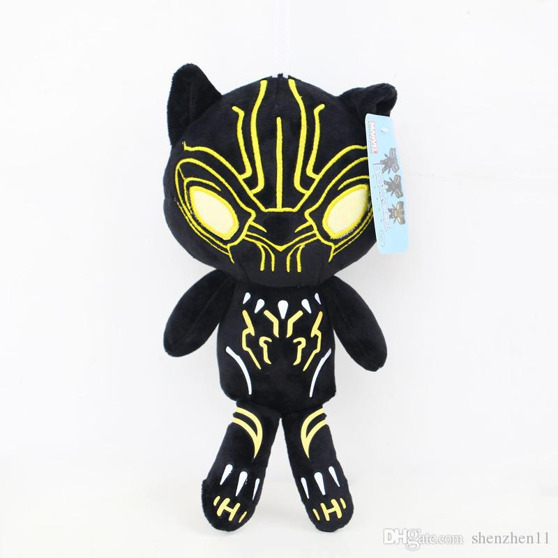 10 Inch Black Panther movie Plush dolls toys 25cm 2018 New children Avengers Superhero cartoon soft Plush dolls toys OTH874