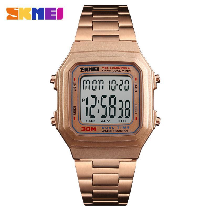 4e63310157f1 Compre Skmei 1337 Relojes Nuevos Cuadrados Personalizados Logotipo Reloj  Movimiento Digital Relojes Hombre Hombre Reloj A  13.47 Del Lyfgood