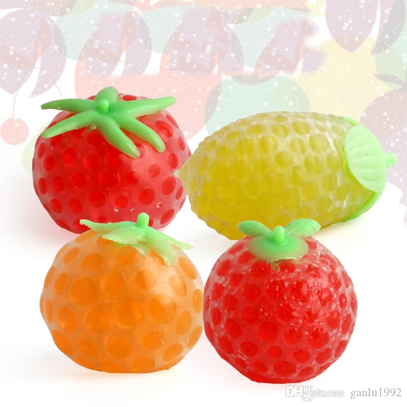 Decompression Ball Toys Cute Fruit Shape Design Super Soft Vent Balls For Office Adults Relief Stress Squeeze Squishy Free Shipping 1 6xd Z