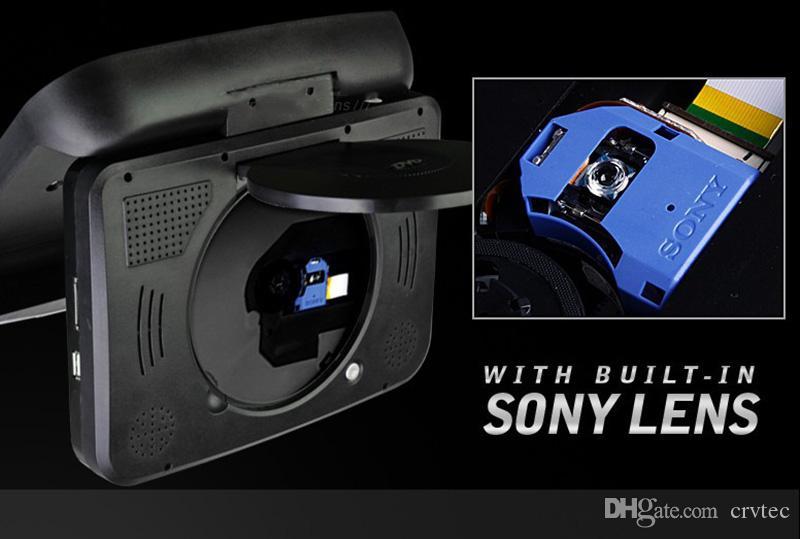 Lecteur dvd de voiture simple 9 pouces USB SD FM IR lecteur dvd de voiture pour montage sur le toit Noir Tan Gris