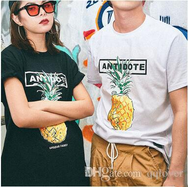 85fc9e5f998 Pineapple Print T Shirt Teenager Streetwear Fruit Pattern Shirt Male  Clothing Short Sleeve T Shirt Unisex Original Brand Tops T Shirts Only  Awesome Tee From ...
