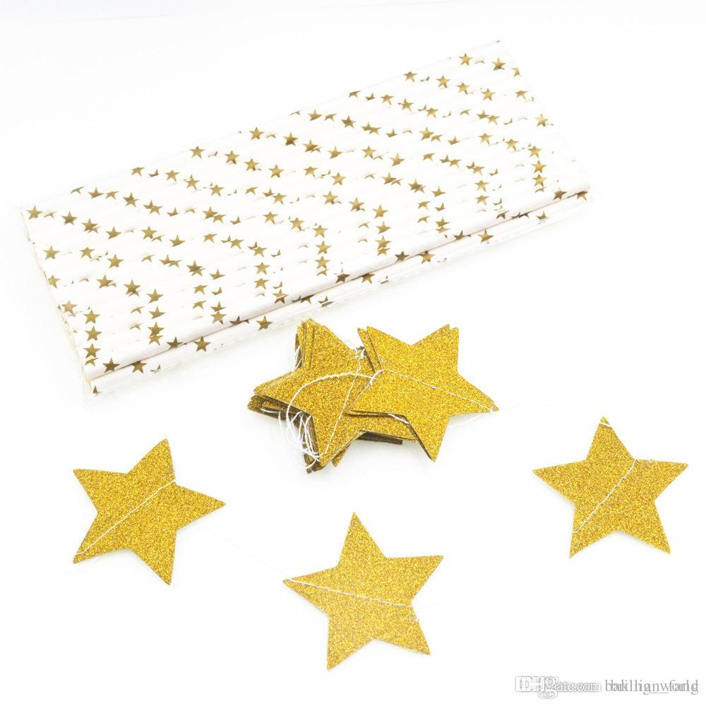 2018 4m Lovely Blink Small Stars Hanging Wedding Birthday Party Wall ...