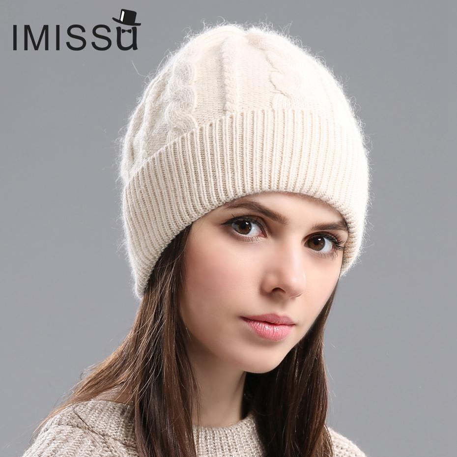 6e1ce37c0e444d IMISSU 2017Spring Autumn & Winter Beanies Women's Hats Knitted Wool Casual  Cap Solid Colors Design Fashionable Girls'hats D18110102