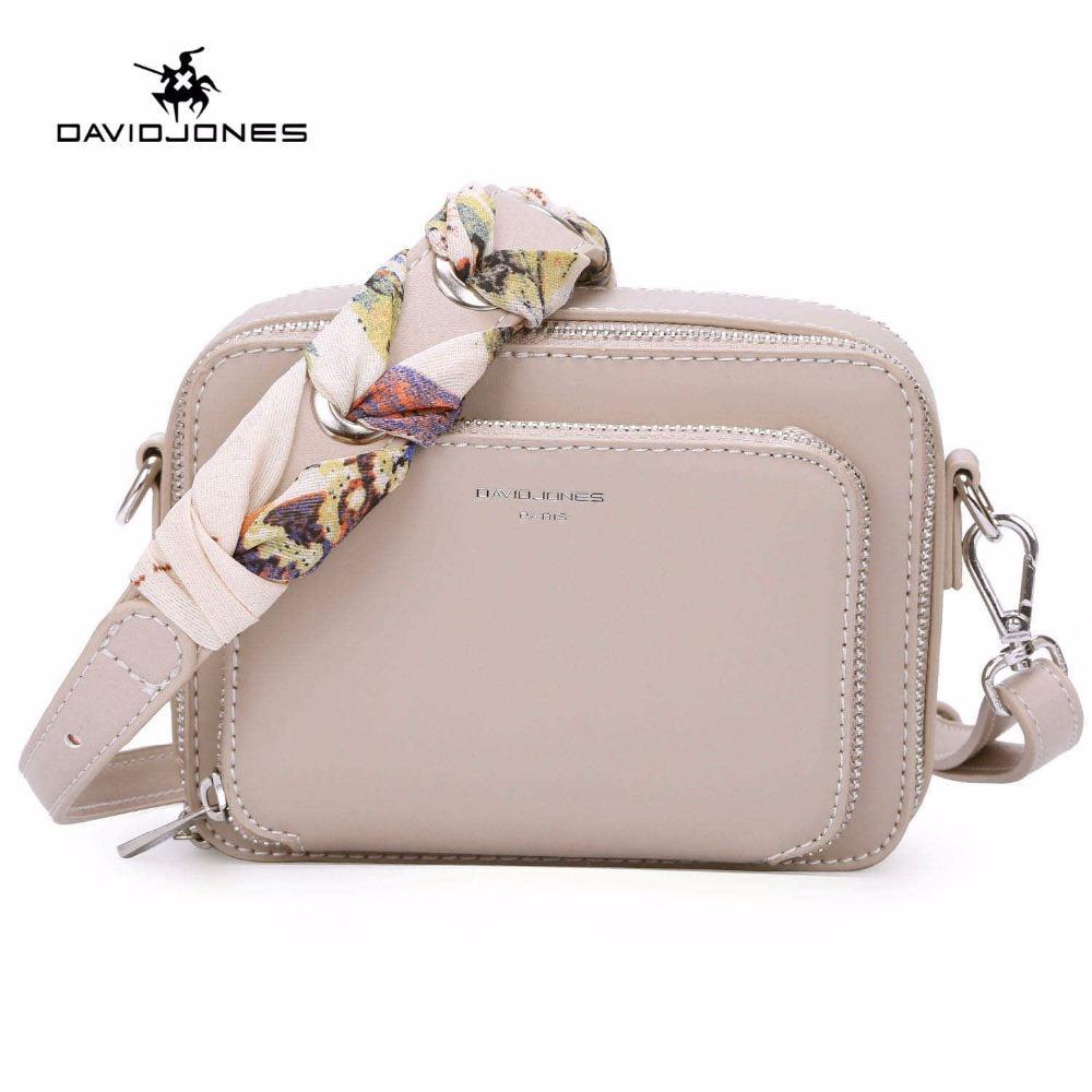 DAVIDJONES Women Small Shoulder Bag Women Ribbons Crossbody Bags For Girl  2018 New PU Leather Messenger Bag Feminina Bolsa Purse Designer Bags  Wallets For ... e4c2a16584d17