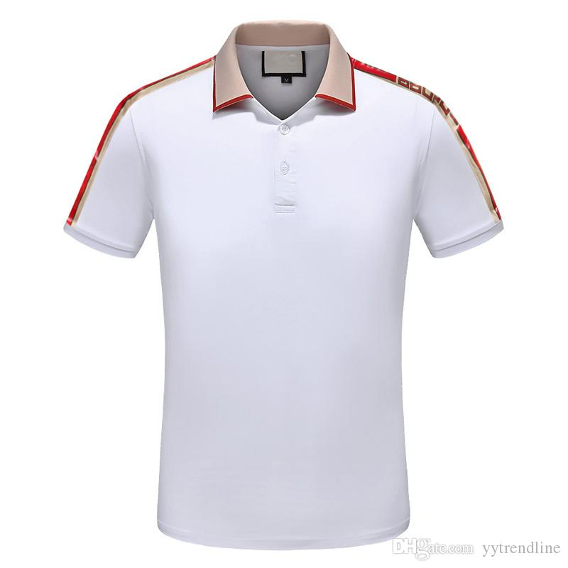 cee5dc950a7 2019 G New Summer Men Fashion Simple Casual Short Sleeved POLO Shirt ...