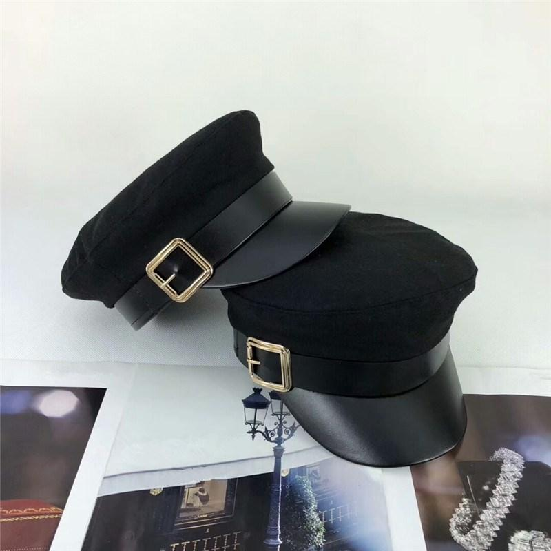 d93f6aea7376aa 2019 New Luxury Brand Winter Hat For Men Women Top Quality Stingy Brim Hats  Famous Designer Formal Black Flat Top Hats Fashion Women Winter Caps From  ...