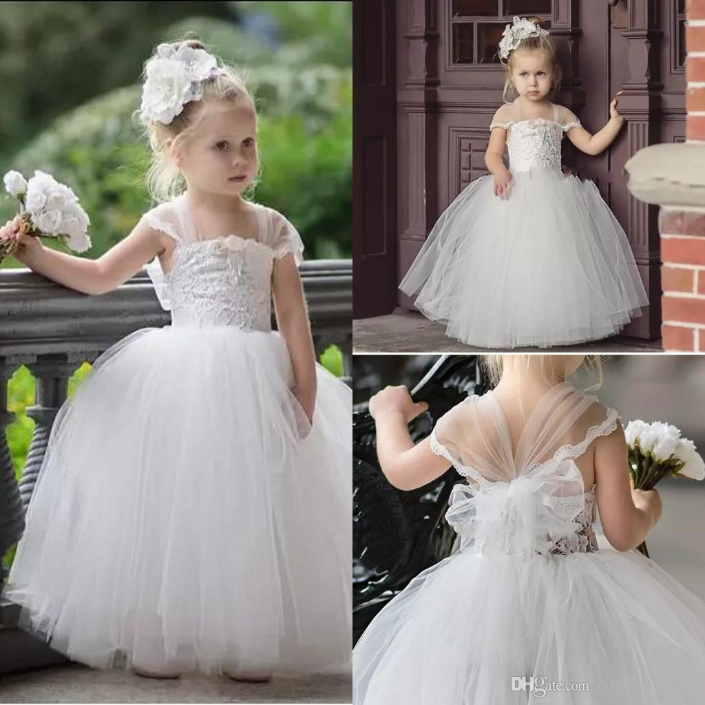Wedding Gowns For Babies: 2018 Cute Toddler Flower Girls Dresses For Weddings Newest