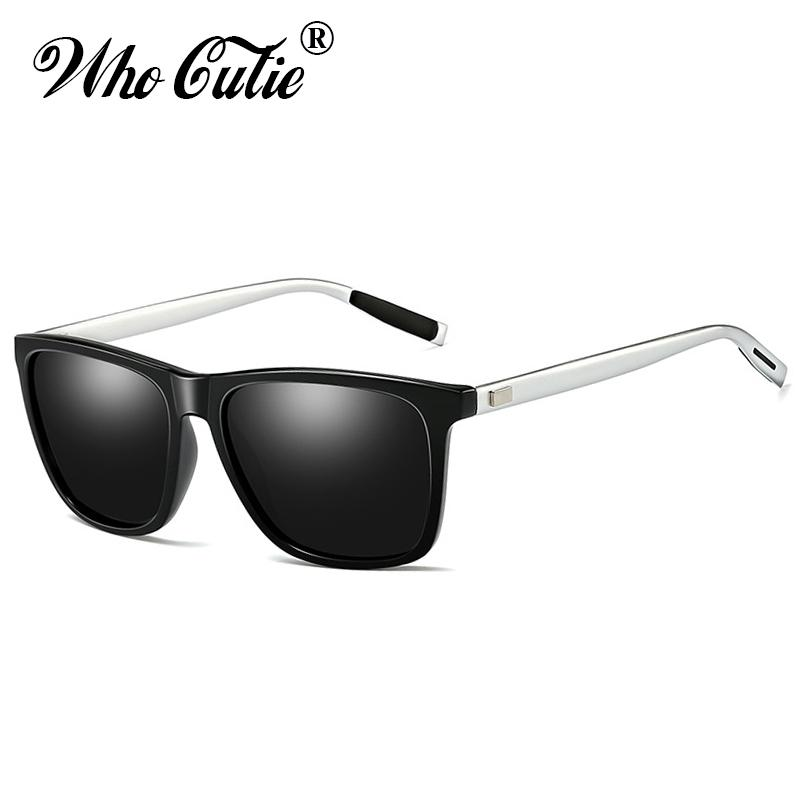 Compre WHO CUTIE 2019 Hombres Gafas De Sol Polarizadas Marco De Magnesio De  Aluminio Conducción De Lentes Cuadrados Gafas De Sol Masculinas Tonos De  Alta ... 49ddca0cafe5