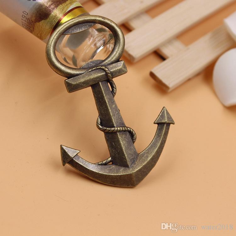 Estilo antiguo de la vendimia Barcos náuticos Barco Ancla Cerveza Abrebotellas Favores de la boda Regalos gratis DHL 77