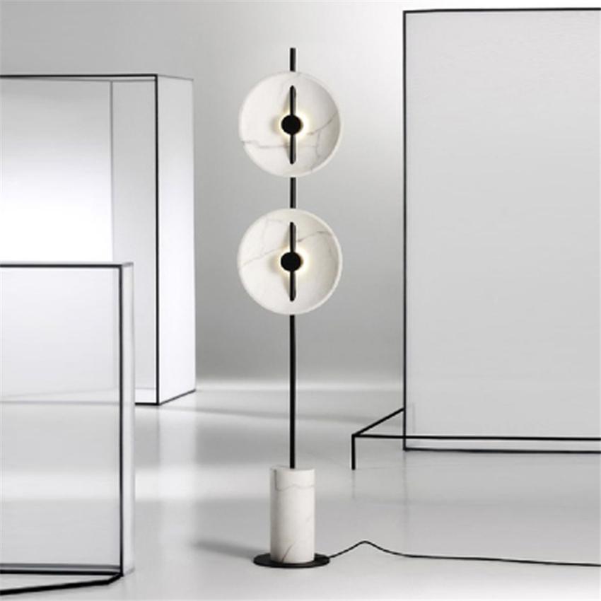 Acquista Lampade Da Terra Moderne Di Arte Di Marmo Del Led Lampione