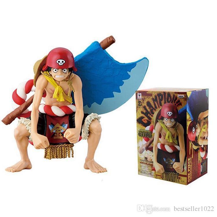 12 CM Tek Parça Dosya Altın Maymun D Luffy Aksiyon Figürleri PVC Bebek Anime Oyuncaklar Japon Karikatür Bebek Oyuncakları