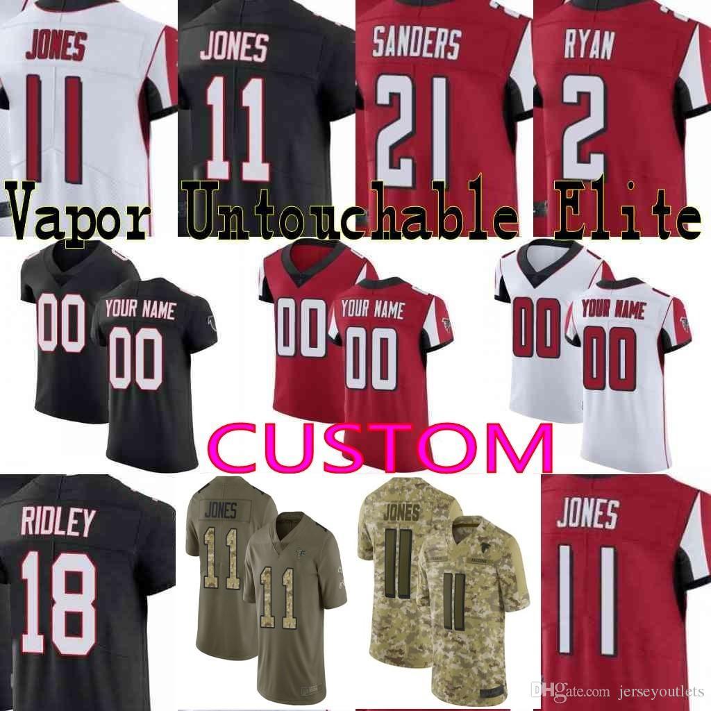 d09216cdf 2018 Custom Men Youth Women Atlanta Falcons Julio Jones Deion Sanders Matt  Ryan Ridley Devonta Freeman Camo Salute To Service Elite Jersey From ...