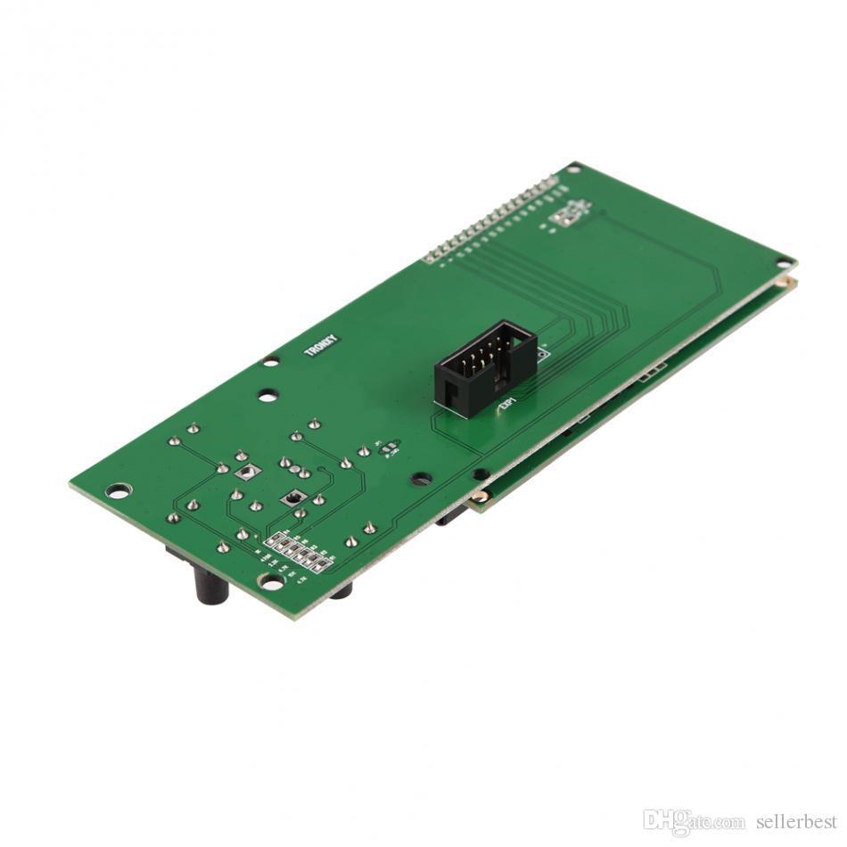 5 مفاتيح 20 × 4 LCD وحدة شاشة Blacklight الأزرق مع كابل الشريط المسطح للطابعة ثلاثية الأبعاد