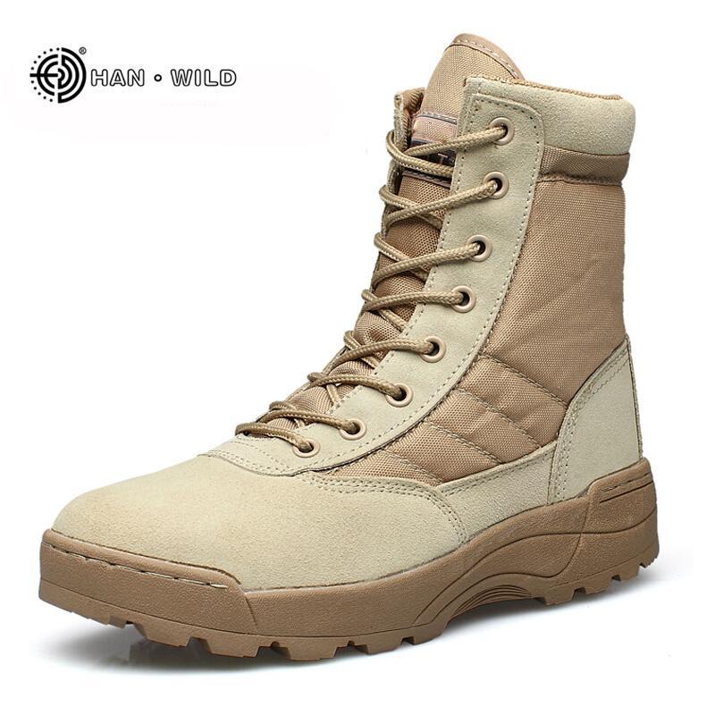 Plus Größe Outdoor Breathable Männer Armee Desert Combat Stiefeletten Männer Military Tactical Stiefel Sicherheitsschuhe Home