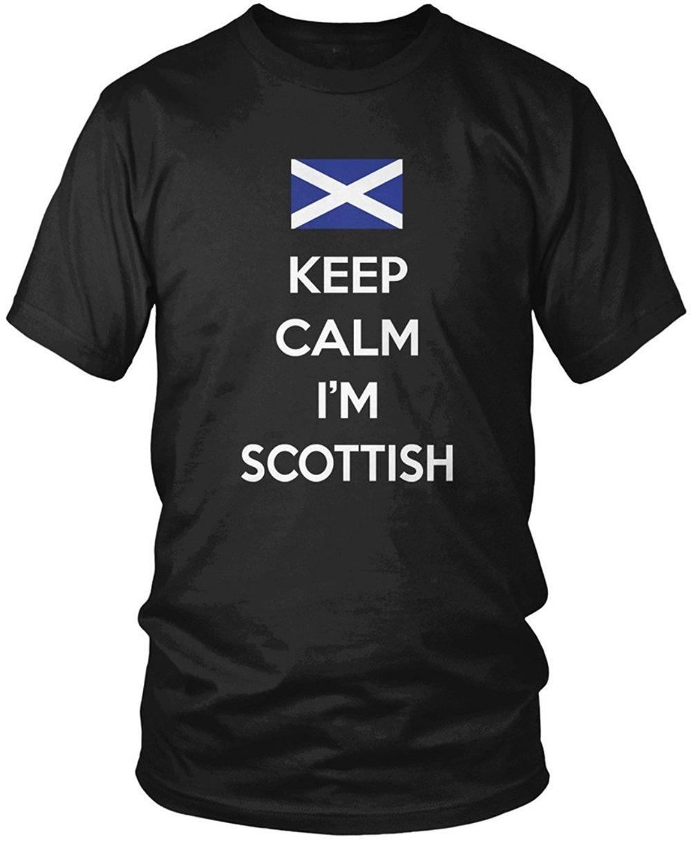 6d346a1e8 Custom Design Shirts O-Neck Short Keep Calm I'M Scottish Scotland Pride  Scotland Flag Men's T-Shirt New Style Tee Shirt For Men