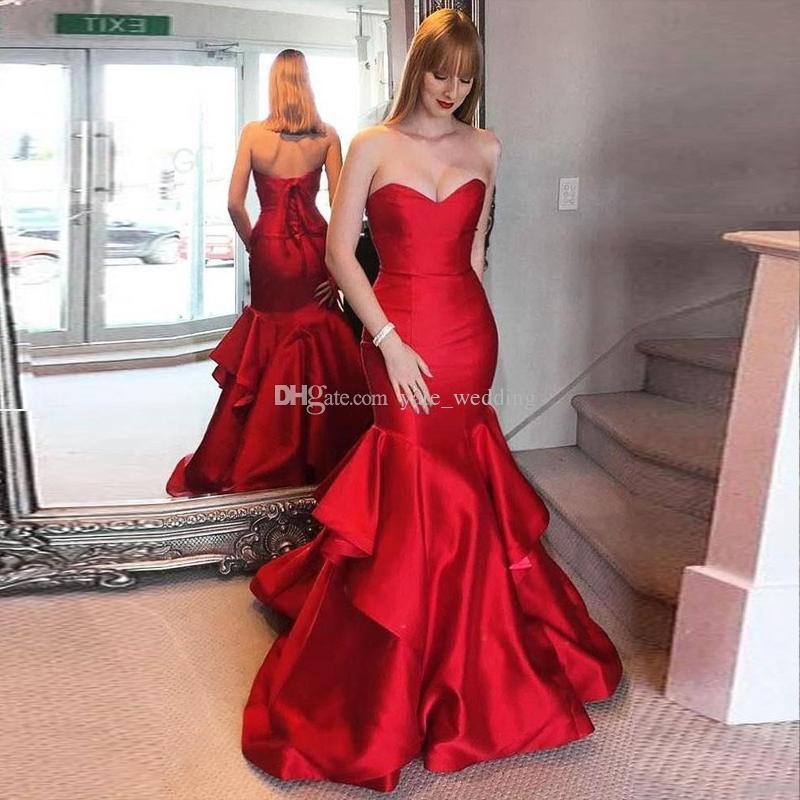 Amazing Sweetheart Floor Length Mermaid Ruffles Evening Prom Dresses 301754470