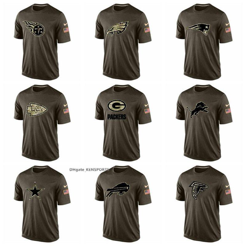Men Titans Philadelphia Eagles Patriots Green Bay Packers Detroit Lions Atlanta  Falcons Salute To Service T-Shirt Size S-XXL New Shorts New Jersey New ... da500fa43