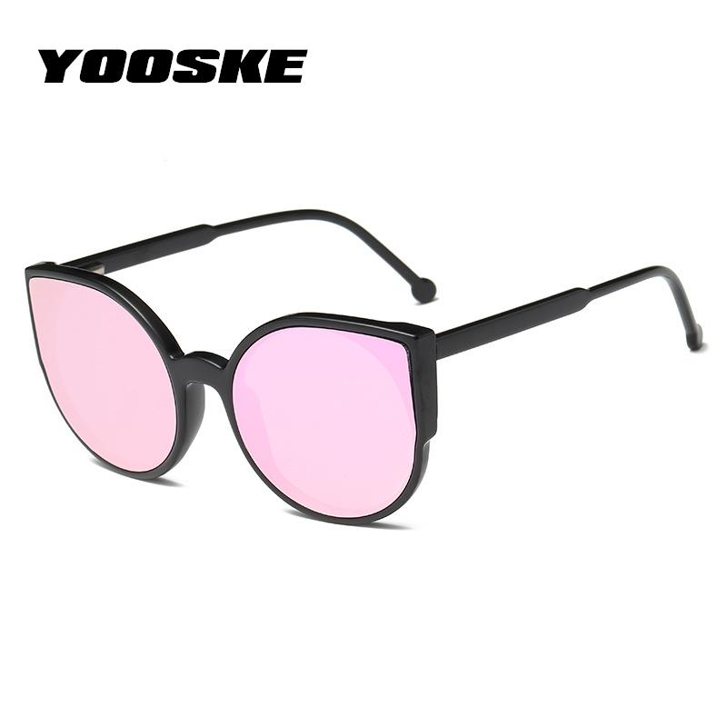 597a9c133c6aa Yooske Women Cat Eye Sunglasses Fashion Coating Mirror Sexy Cateye Sun  Glasses For Female Vintage Eyewear Womens Glasses Uv400 Cycling Sunglasses  Running ...