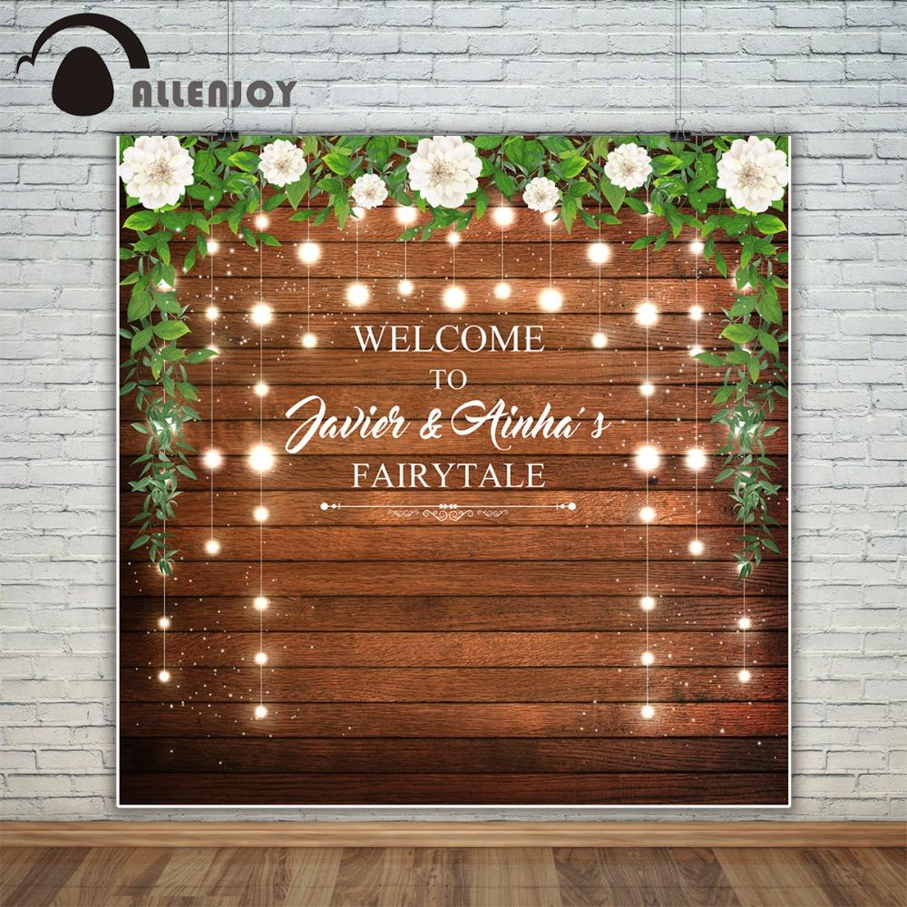 2019 Allenjoy Wedding Custom Photography Backdrop Photo