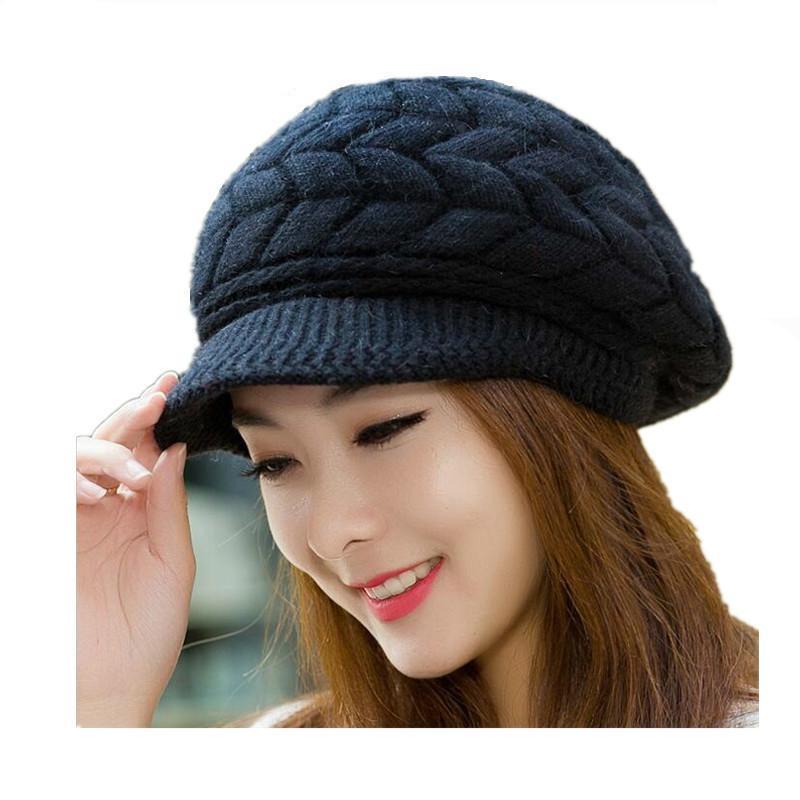 96f64e8f6e0 Seioum New Women Winter Hat Warm Beanies Fleece Inside Knitted Hat For  Woman Rabbit Fur Cap Autumn And Winter Ladies Fashion Beanie Hats Beanie Hat  From ...