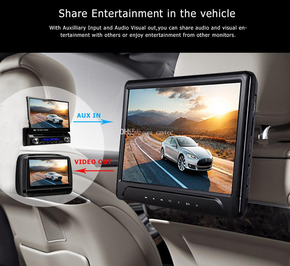 11.6 pouces clip-on voiture dvd appui-tête installation dvd lecteur dvd HD 1080P HDMI USB SD FM Système de jeu IR