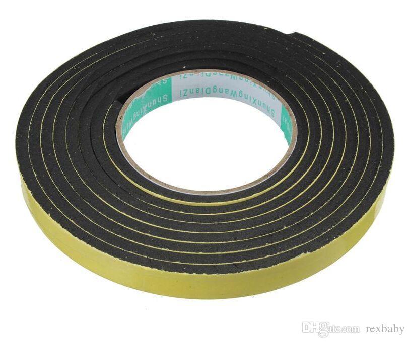New Sealing Strips 3 Meter Window Door Foam Adhesive Draught Excluder Strip Sealing Tape Adhesive Tape Rubber Weather Strip