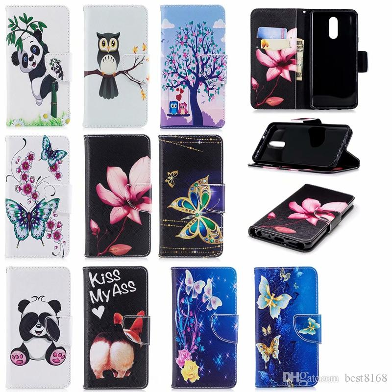 best service 43c77 9084b Wallet Case For LG Stylo4 Butterfly Leather Unicorn Panda Cover For LG  Stylo 4 Coque Unicorn Floral Flower Flip Pouch Fashion Phone Skin