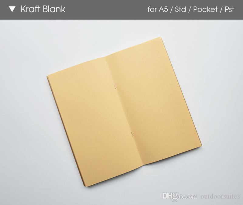 Pocket Size Notebook Paper Kraft Paper Notepad Book Filler Paper Inserts Blank Ruled Diary Graffiti Sketch Creative Simple stationery